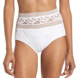 Becca Captured Crochet Bikini Bottom sz Med